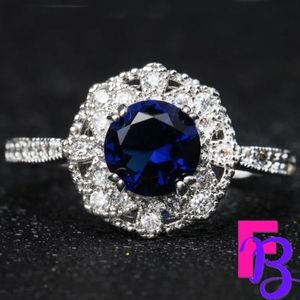 Size 8 Vintage Sapphire Ring
